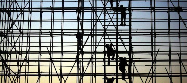 Essential scaffolding in Lichfield
