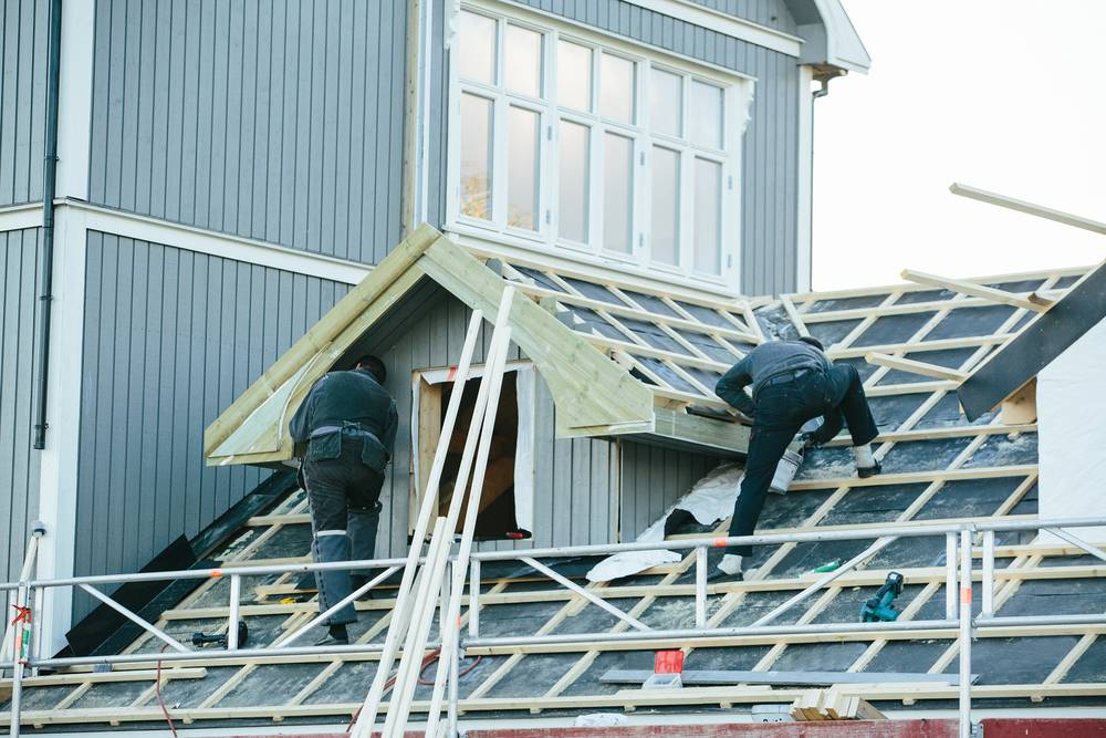 Roofing Repairs using Scaffolding